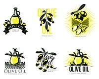 Logo Set au sujet d'huile d'olive Photos stock