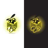Logo Set au sujet d'huile d'olive Photographie stock libre de droits