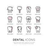Logo Set Badge ou soins dentaires et Desease Photographie stock libre de droits