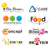 Logo set Stock Photography