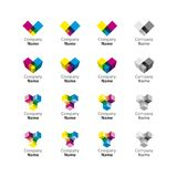 Rainbow Logo Set Icon Stock Photography