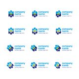 Logo Set Icon Royalty Free Stock Photography