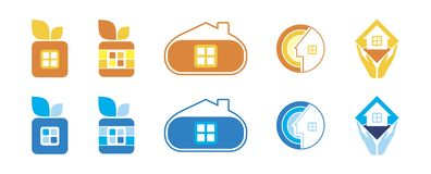 Logo Set Stock Photo