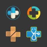 Logo Set médical Images stock