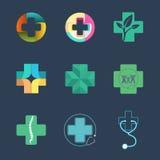 Logo Set médical Images libres de droits
