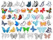 Logo Set met vlinders vector illustratie