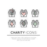 Logo Set for Nonprofit Organizations and Donation Centre Royalty Free Stock Photography