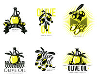 Logo Set about olive oil Stock Photos