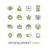 Logo Set pour le service d'application de mobile ou d'ordinateur portable pour l'accès client Photographie stock