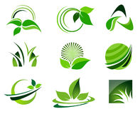 Logo Set verde Imagem de Stock Royalty Free