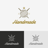 Logo, sewing shop with needle Royalty Free Stock Photo