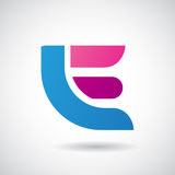 Logo Shape and Icon of Letter E, Vector Illustration Royalty Free Stock Photo