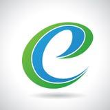 Logo Shape und Ikone von Buchstaben E, Vektor-Illustration lizenzfreie abbildung