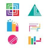 Logo shapes collection Stock Photos