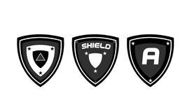 Logo Shield Design Stock Afbeelding