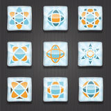 Logo Shiny Icons Imagem de Stock Royalty Free