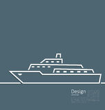 Logo of ship in minimal flat style line Stock Photography