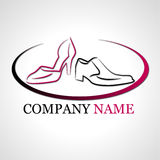Logo for shoes company Stock Images