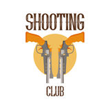 Logo shooting club stock illustration