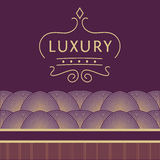 Logo for shops, boutiques. Logo on a purple Stock Photography