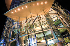 Logo of Siam Paragon, famous landmark shopping mall around Siam Square area in Bangkok, Thailand. Bangkok, Thailand - June 05, 2012: Logo of Siam Paragon, one of Royalty Free Stock Photography