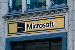 Logo and sigh Microsoft. royalty free stock photography