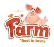 Logo sign design template meat shop farm restaurant menu bbq Royalty Free Stock Images