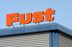 Logo sign of Fust appliance store Stock Photography