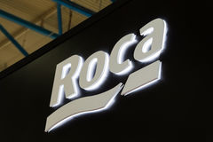 Free Logo Sign Of Roca Company. Roca Is A Spanish Producer Of Sanitary Products Stock Photos - 92134973