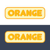 Logo with Sign of Orange Fruit Stock Photography
