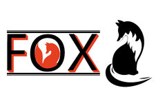 Logo with silhouette of a fox Royalty Free Stock Photo