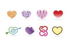 Logo, simbolo ed icona del cuore di amore Fotografia Stock Libera da Diritti