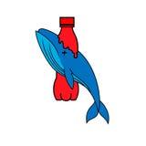 Logo simple d'ensemble de baleine Photos libres de droits