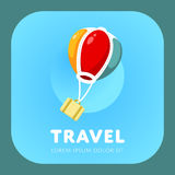 Logo simple de ballon à air Photo stock