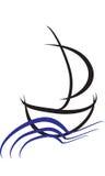 Logo simple de bateau Image libre de droits
