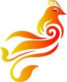 Logo simple de vecteur de pheonix Photo libre de droits