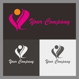 Logo. Simple pink logo with beautiful design Vector Illustration