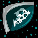 Logo skull in space vector illustration
