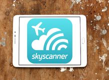 Skyscanner Logo Royalty Free Stock Photo