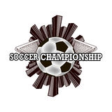 Logo soccer championship Royalty Free Stock Images