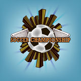 Logo soccer championship Royalty Free Stock Photography