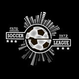 Logo soccer league Royalty Free Stock Image