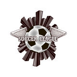 Logo soccer league Royalty Free Stock Photography