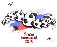Logo Soccer-toernooien 2018 Stock Afbeeldingen