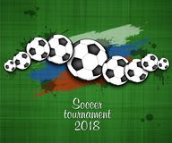 Logo Soccer-toernooien 2018 Royalty-vrije Stock Foto