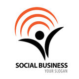 Logo social d'icône d'affaires illustration stock