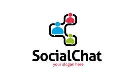 Logo social de causerie Photos stock
