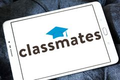Logo social de service de mise en réseau de camarades de classe images libres de droits