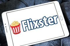 Logo social de site de film de Flixster Photographie stock libre de droits