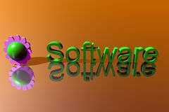 Logo Software. 3D Presentation Business Logo Software Royalty Free Stock Photos
